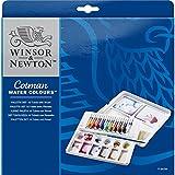 Winsor & Newton Cotman Water Colour Boîte de Peinture 10 tubes 8 ml Couleurs Assorties