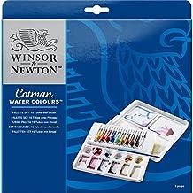 Winsor & Newton - Tavolozza con incavi porta tubetti Cotman, per pittura ad acquerello