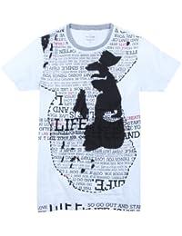 Unknown - T-shirt -  - Manches courtes Homme Blanc weiß-schwarz