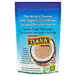 TIANA FairTrade Organics Premium Organic Coconut Nectar, Pure Sugar Alternative 250g (Pack of 2)