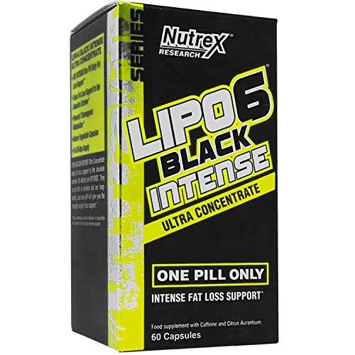 Nutrex Lipo 6 Black Intense Ultra Concentrate European Version 1er pack 60 Kapseln Fettverbrenner Thermogenic Fat Burner Abnehmen mit Koffein Cholin und Piperin aus Schwarzer Pfeffer Extrakt