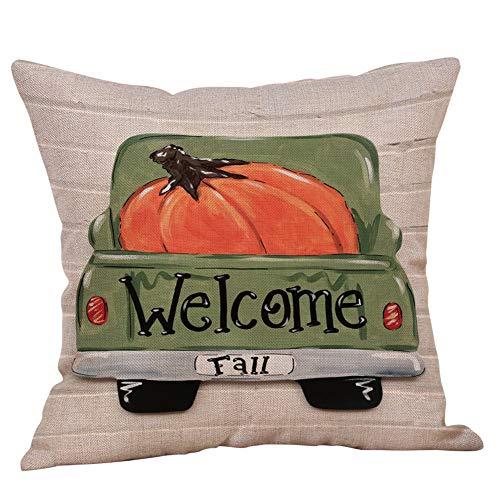 Zimuuy 2018 Halloween super weiche Decoration Kissenbezug Bedruckter Kissenbezug autobett Sofa Dekoration Kissenbezug. (Mehrfarbig, A)