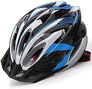 Shinmax Casco de Bicicleta Certificado CE Casco de Bicicleta para Hombre con Visera Desmontable Casco de Cicli