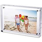 """2.5x3.5"""" Transparente acrílico magnético marco de fotos acrílico con cierre magnético, de doble cara marco de fotos vertical y horizontal"""