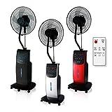 DARDARUGA Ventilatore Digitale con NEBULIZZATORE AD Acqua WFD, IONIZZATORE, Repellente Insetti E VANO per Aroma (Argento)