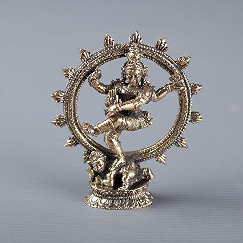 Latón Dancing Shiva Estatua como Lord Nataraja