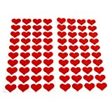 80 Frau Wundervoll Herzaufkleber aus Filz / Hochzeitssticker Herz / Gastgeschenk Hochzeit / Hochzeitsaufkleber / Aufkleber Hochzeit / Aufkleber Vintage Hochzeit / Sticker Hochzeit