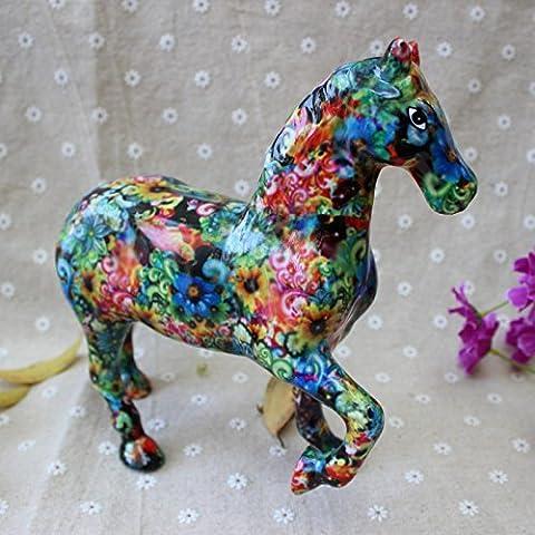 LQK-Casa Rossi vasi pieni di fiori e decalcomania ceramica creativa carta ornamento decorazione