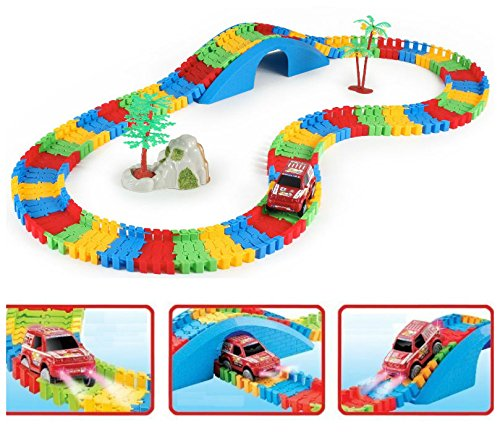 children-car-track-set-154-pc-kids-fun-car-flexible-variable-track-set-led-light-battery-operated-ra
