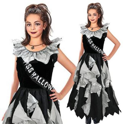 Zombie School Prom Queen Girls Halloween Costumes 8 9 10 yr by Star55 (Zombie School Girl)