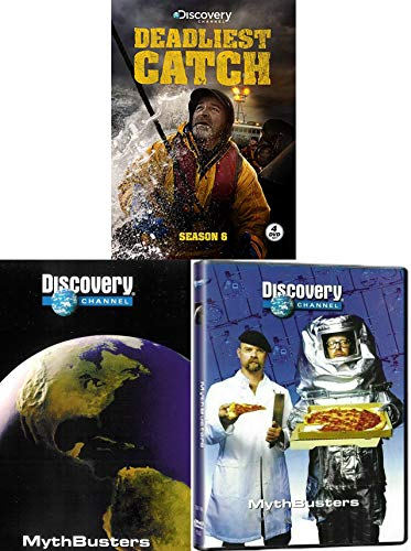 Myth Cooling a Six-Pack & discovery channel / Mythbusters Revealed DVD show demystify baffling urban myths and legends + Deadliest Catch Season Extreme Fisherman + Remembering Captain Phil
