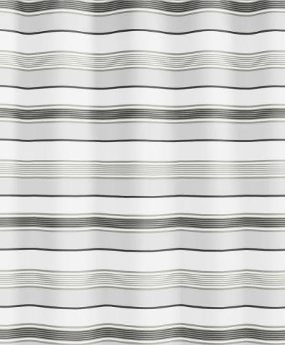 Kleine Wolke 5143120305 Duschvorhang Stripes, 180 x 200 cm, grau (Grau Zebra Duschvorhang)