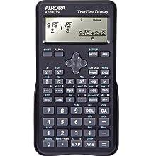 Aurora AX-595TV Poche Calculatrice scientifique Noir calculatrice - Calculatrices (Poche, Calculatrice scientifique, 4 lignes, Batterie/Pile, Noir)