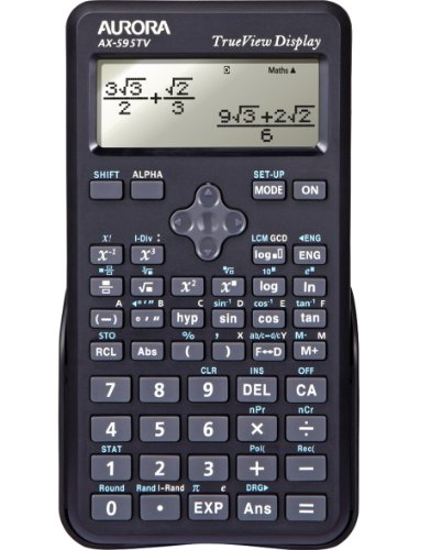 AURORA AX595TV Calcolatrice scientifica, nero