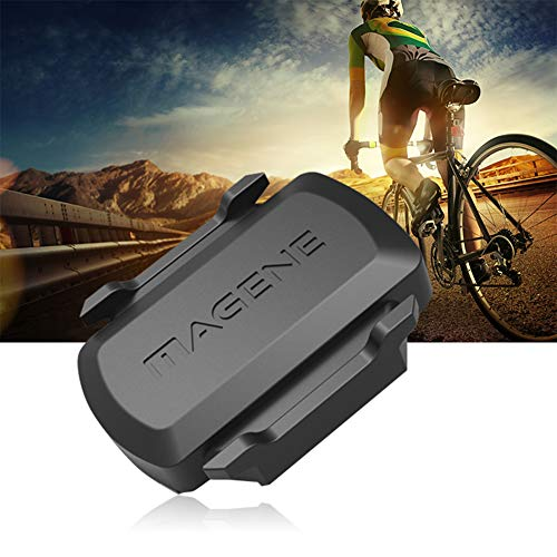 XQxiqi689sy MAGENE ANT+ Bluetooth Bike Speed Cadence Dual Sensor für Garmin iGPSPORT Bryton Einheitsgröße Schwarz Garmin Speed Cadence Bike Sensor