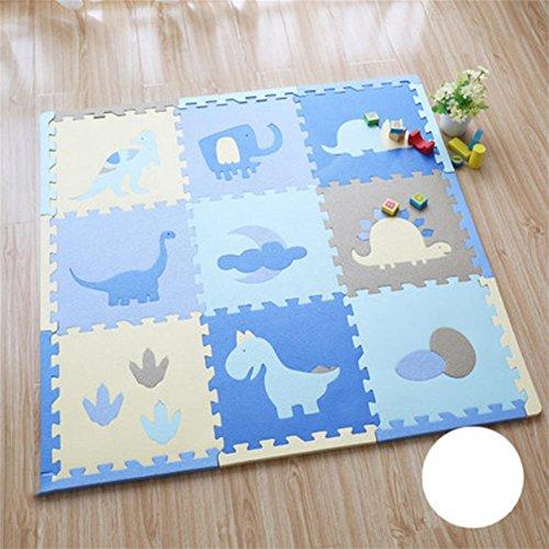 L&LQIneinander greifenkind kriechende matte puzzle puzzle verdickung schaum mat baby baby stitching spieldecke , 003 , 30*30*1.4cm (Teppich-shampoo-maschinen)