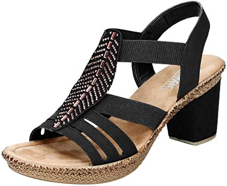 Donna   Uomo Rieker donna-Sandalette nero 910813-1 Forte calore e resistenza all'usura Bella apparenza Forte calore e resistenza al calore | Valore Formidabile  | Scolaro/Signora Scarpa