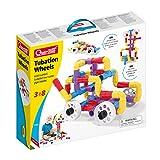 Quercetti- Tubation Wheels Gioco di Costruzioni Tubolari su Ruote, Multicolore, 68 Pezzi, 4185