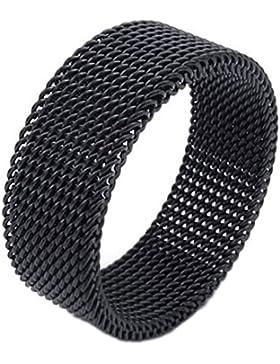 Screen Mesh Bandring - SODIAL(R)Schmuck Herren-Ring, Damen-Ring, Edelstahl, Flexible Screen Mesh Bandringring,...