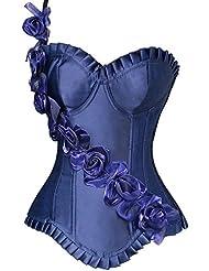 Palacio Europa vintage corsé corsés de corsés yiyinglun rosa correa plástico ropa mujer , blue , s