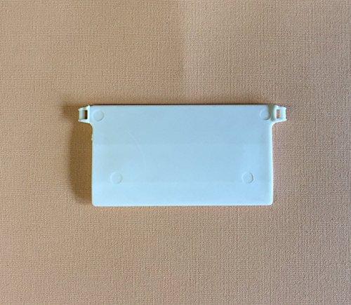 cg-sonnenschutz 10 Stück Beschwerungsplatten Breite 89 mm Gewichte für Vertikaljalousie Lamellen Vorhang Vorhang-Lamellen weiß aus Kunststoff (Kunststoff-lamellen)