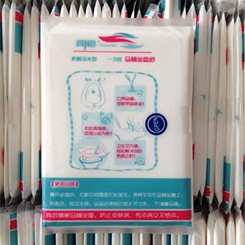 10pcs / lot viaggi monouso wc coprisedile stuoia impermeabile carta igienica pad togames-it