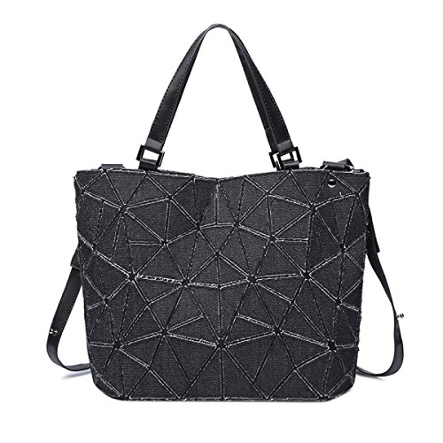 Denim Chaos Dreieck Eimer Tasche Diamant Nähen Handtaschen Wild Schulter Messenger Damentasche
