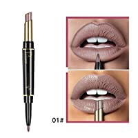 Begorey Double Ended Rotate Matte Waterproof Lipstick Lip Liner Pencil, Long Lasting Matte Lipsstick + Lipliner 2 In 1, Matte Lipstick set Lip Liners