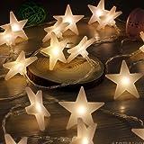 Uping Stringa di Luci, Catena Luminosa, 30 LED Stelle, 4,65 Metri, Decorativa da Interni e Esterni, anche per Festa, Giardino, Natale, Halloween, Matrimonio