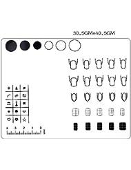 lavable en silicone Nail Art Stamping Practise, 3d Vernis à ongles DIY Image Peinture Pochoir d'entraînement pliable Manucure outils