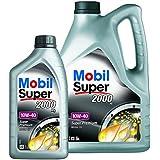 1 L + 5 L = 6 Liter Mobil Super™ 2000 X1 10W-40 Motor-Öl Motoren-Öl; Spezifikationen/Freigaben: ACEA A3/B3; API SL; AAE (STO 003) Group B5; MB-Approval 229.1; VW 501 01/505 00; AVTOVAZ Lada-Cars; API