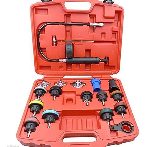 18pc Radiatore pressione Tester Rilevatore di tool kit test per sistema di raffreddamento universale - Audi A6 Sistema Di Raffreddamento