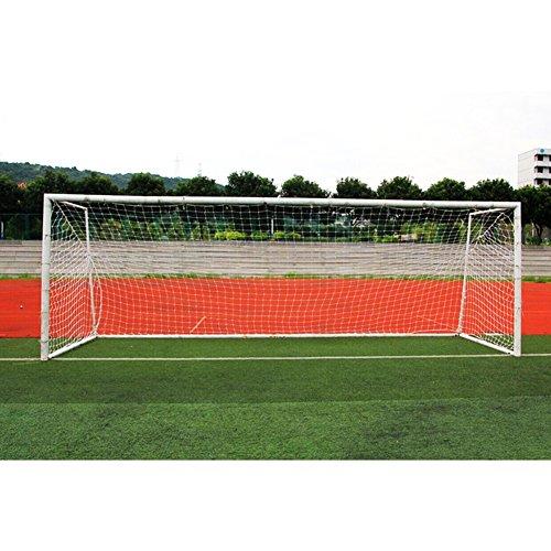Fußballnetz Fußballtor Ersatznetz für Feild Match ( Farbe : Weiß , Abmessung : 24*8ft-11 People )