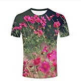 Best T Shirts Funny Buds Shirt For Men - Mens 3D Printed Short Sleeve T-Shirts Cosmos Flowers Review