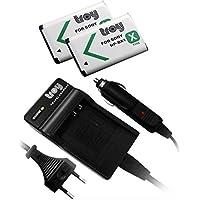 Troy Chargeur+ 2 x Batterie pour SONY CyberShot DSC-RX1, DSC-RX100, DSC RX100, NPBX1, NP-BX1