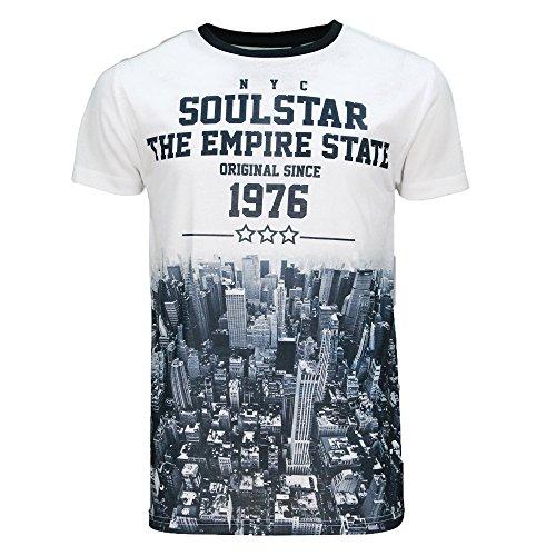 Herren New York City NYC Kurzärmelig T-Shirts By Soulstar Weiß
