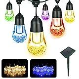 WOLFWILL Led Lichterkette mit Led Kugel Solarbetrieben Wasserdicht Lichterkette mit Lichtsensor für Außen Garten, Terrasse, Weihnachtsbaum