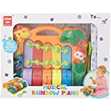 Toyhouse Rainbow Piano With Music And Light Multi Color