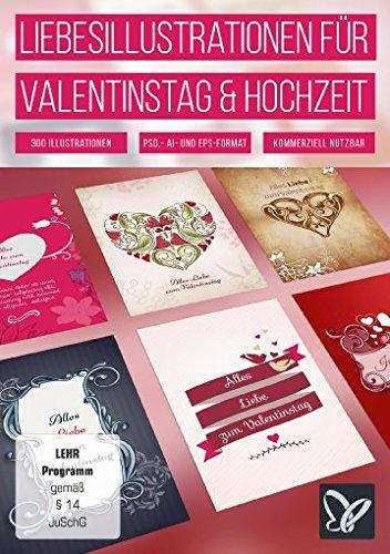 Liebesillustrationen für Valentinstag und Hochzeit (Win+Mac)