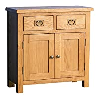 Roseland Furniture Ltd Surrey Oak Mini Sideboard - Rustic Waxed Oak Sideboard