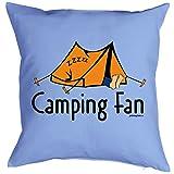 Witziges Kissen für den Camper- Camping Fan - bedrucktes Dekokissen mit Füllung als humorvolle Geschenk Idee
