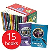 Enid Blyton - Mystery Series Books: 15 books (The Mystery of: the Burnt Cottage / Disappearing Cat / Secret Room / Spiteful Letters / Missing Necklace / Hidden House / Pantomime Cat / Invisible Thief / Vanished Prince / Strange Bundle / Holly Lane / Tally Ho Cottage / Missing Man / Strange Messages / Banshee Towers rrp £74.85)