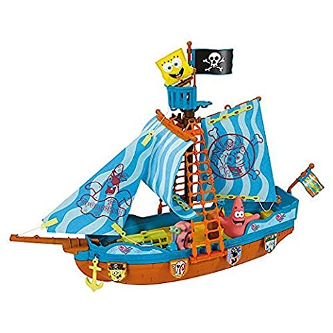 SpongeBob Pirate Boat Playset With 3 Figures: SpongeBob, Patrick Star & Gary The Snail by SpongeBob Squarepants