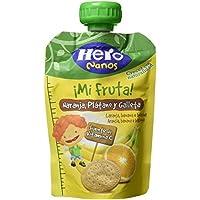 Hero - Bolsita De Fruta 100 g Naranja, Plátano Y Galleta - [pack de 9]