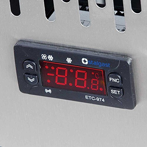 Saladette mit Glasaufsatz, mit zwei Türen, für 10 x GN 1/4 (150 mm), Abmessung 900 x 700 x 1300 mm (BxTxH)