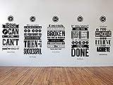 Dozili Eric Thomas, Henry Ford, Richard Branson, Zig Ziglar, Napoleon Hill inspirierende Wandsticker, 5-teiliges Set