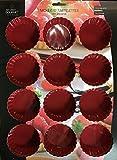 JJA 111051A - Molde de silicona para 12 tartaletas, color rojo