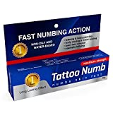 Maximum Strength Tattoo Numbing Cream - Lasts Up To 4 Hours, Safe to Use and Does Not Interfere With Inks!
