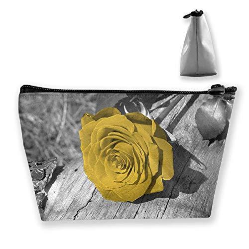 Aufbewahrungstasche Gelb Grau Rose Blume Wandkunst Veranstalter Tasche Reise Make-up Zug Fall Aufbewahrungstasche Kosmetiktaschen