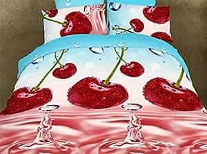 155x200 cm 3D Microfaser Bettwäsche Bettbezüge Bettwäschegarnituren 3tlg schöne Farben und Muster FSH265